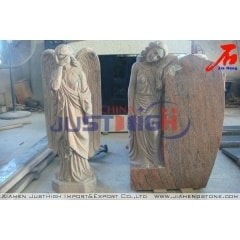 India JP red granite angel